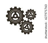 gears on a white background.... | Shutterstock .eps vector #627571763
