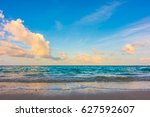 beautiful sunrise with sky over ... | Shutterstock . vector #627592607
