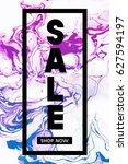 sale. shop now. black... | Shutterstock .eps vector #627594197