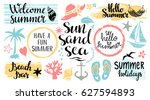 Summer Beach Logo  Icons  Sign...