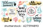 Summer Beach Logo  Icons  Sign...