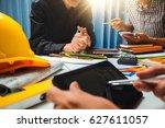 teamwork of business man... | Shutterstock . vector #627611057