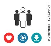 group people icon | Shutterstock .eps vector #627624407