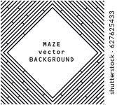 black and white vector maze... | Shutterstock .eps vector #627625433