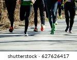 feet runners group leaders... | Shutterstock . vector #627626417