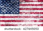 grunge american flag.vector... | Shutterstock .eps vector #627645053