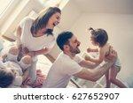 family spending free time at... | Shutterstock . vector #627652907