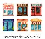urban stores set isolate on... | Shutterstock .eps vector #627662147