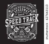 vintage motorcycle piston... | Shutterstock .eps vector #627663113