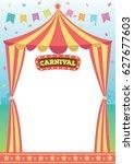 illustration vector of circus... | Shutterstock .eps vector #627677603