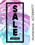 sale. shop now. black... | Shutterstock .eps vector #627684977