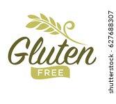 gluten free emblem | Shutterstock .eps vector #627688307