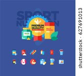 sport nutrition icons | Shutterstock .eps vector #627691013