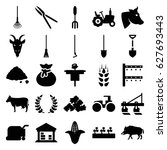 agriculture icons set. set of... | Shutterstock .eps vector #627693443