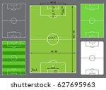 football field or soccer field | Shutterstock .eps vector #627695963
