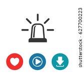 siren vector icon | Shutterstock .eps vector #627700223