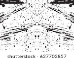 black and white vintage grunge... | Shutterstock .eps vector #627702857