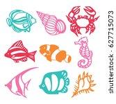 a vector illustration of... | Shutterstock .eps vector #627715073
