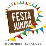 festa junina background holiday | Shutterstock .eps vector #627727793