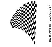 checkered flag. racing flag... | Shutterstock .eps vector #627727817