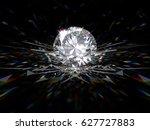 fancy round brilliant cut... | Shutterstock . vector #627727883