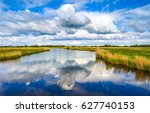 spring river sky clouds... | Shutterstock . vector #627740153