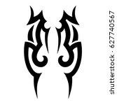 tattoo tribal vector designs.... | Shutterstock .eps vector #627740567