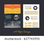 a4 document and vector... | Shutterstock .eps vector #627741953