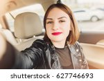 young smiling gril making... | Shutterstock . vector #627746693