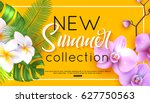 new summer collection banner... | Shutterstock .eps vector #627750563