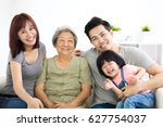 happy little girl with her... | Shutterstock . vector #627754037