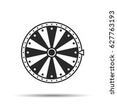 wheel of fortune  icon. vector... | Shutterstock .eps vector #627763193