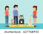 dogs show illustration in... | Shutterstock .eps vector #627768953