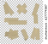 isolated sticky tape pieces on... | Shutterstock .eps vector #627779387