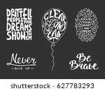 set of vector inspirational and ... | Shutterstock .eps vector #627783293