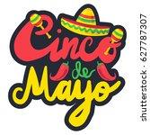 cinco de mayo festival label... | Shutterstock .eps vector #627787307
