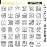 sewing equipment outline... | Shutterstock .eps vector #627791417