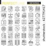 sewing equipment outline... | Shutterstock .eps vector #627791417