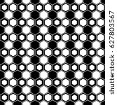 repeated black figures on white ... | Shutterstock .eps vector #627803567