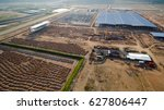 aerial view construction site... | Shutterstock . vector #627806447
