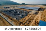 aerial view construction site... | Shutterstock . vector #627806507