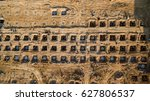 aerial view construction site... | Shutterstock . vector #627806537