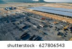 aerial view construction site... | Shutterstock . vector #627806543