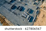 aerial view construction site... | Shutterstock . vector #627806567