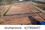 aerial view construction site... | Shutterstock . vector #627806657