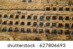 aerial view construction site... | Shutterstock . vector #627806693