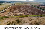 aerial view construction site... | Shutterstock . vector #627807287
