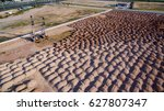aerial view construction site... | Shutterstock . vector #627807347