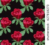 elegant seamless pattern with... | Shutterstock .eps vector #627818273