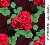 elegant seamless pattern with... | Shutterstock .eps vector #627818297
